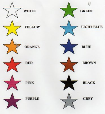 Colours english subject area